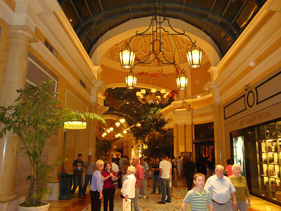 One of the shopping areas in the Bellagio.