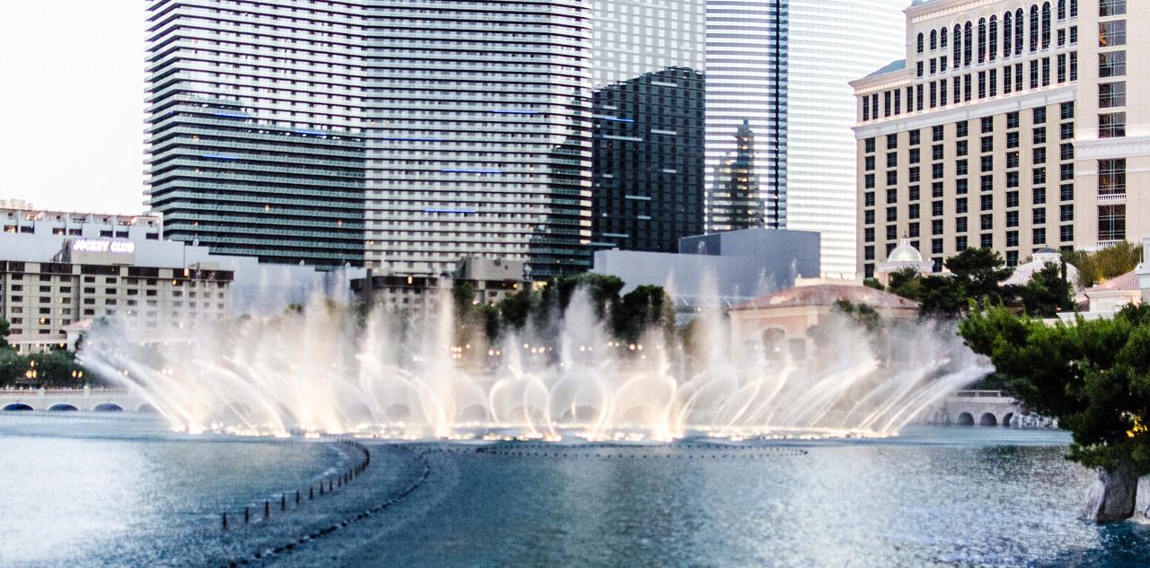 Dancing fountains in Las Vegas