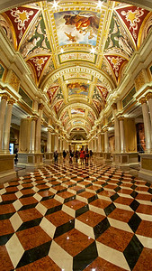 The great gallery and hall. The Venetian Hotel.
