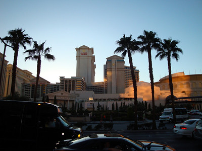 Caesars Palace early in the morning.