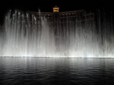 Water fountain show at The Bellagio. Sprays are synchronized to music. Very well done.