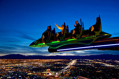 The X-Scream ride on top of the Stratosphere Casino, Hotel & Tower