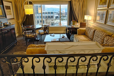One of our hotel suites at the Venetian Hotel