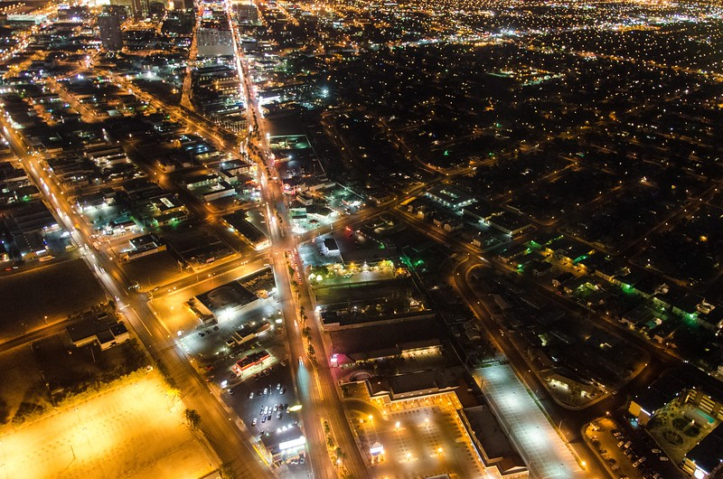 View on city from Stratosphere