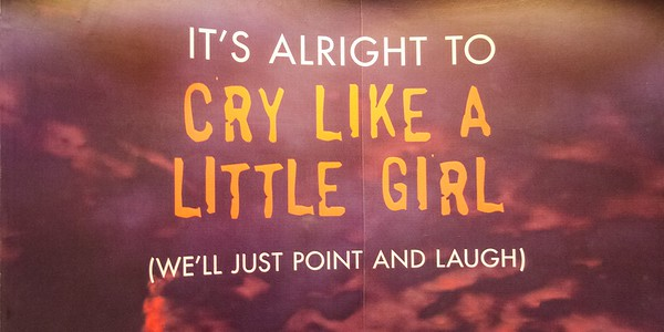 It is ok to cry like a little girl