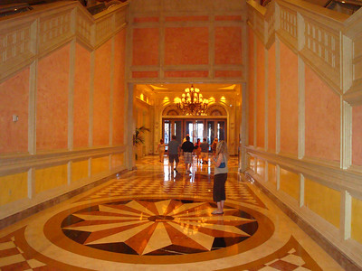 The main entrance hallway into the Venetian.