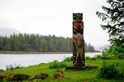 A Totem Pole in Craig, Alaska