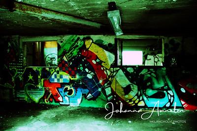 autio talo graffiti pelottava