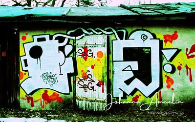 autio talo graffiti rikkinäinen katto