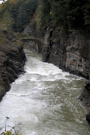 Letchworth State Park, NY, looking downstream from the Lower Falls. That's a foot bridge in the distance that takes you to the other side of the park. Pictures from there coming up!