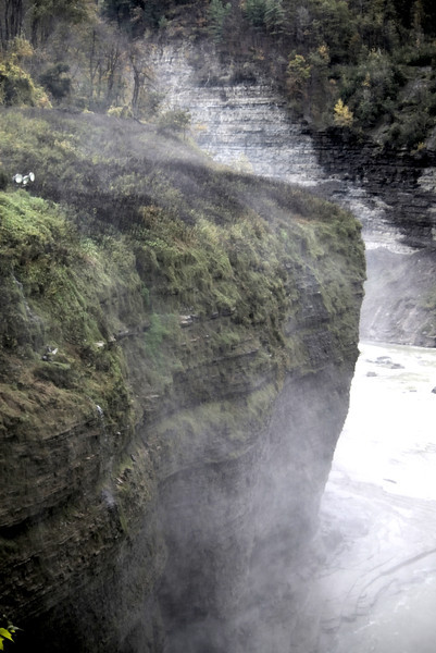 """Letchworth State Park, NY, I coined this the """"Irish Bluff"""" across from the Upper Falls."""