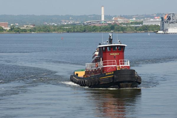 Tugboat seeing us off.