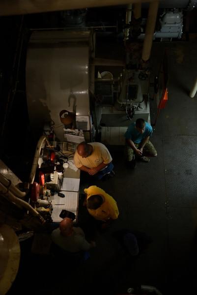 Engine room crew.