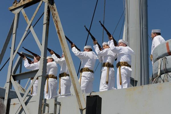 Navy Armed Guard at Memorial Service.