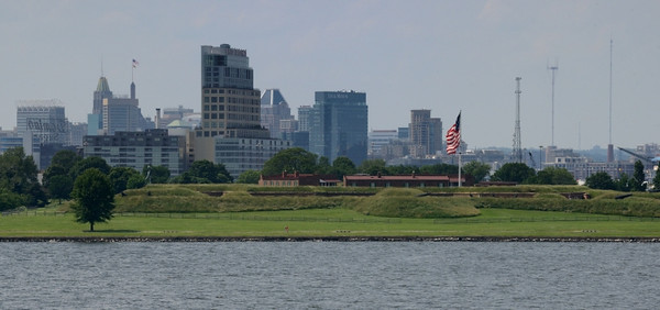 Fort McHenry in the foreground.