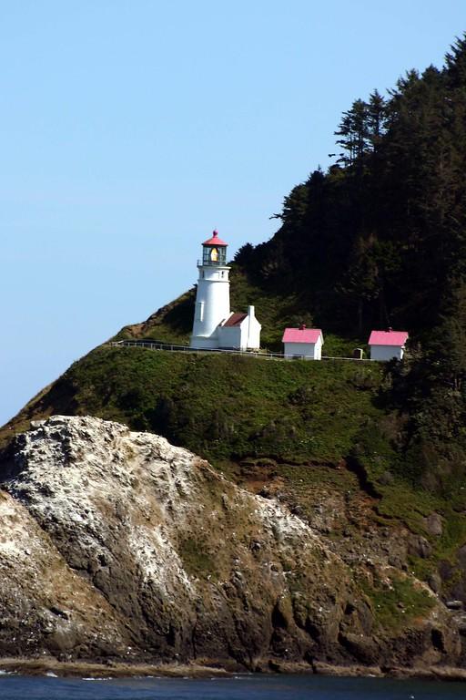 Heceta Head - OR<br /> Satrted on March 30, 1894. <br /> A view from Sea Lion Caves, OR