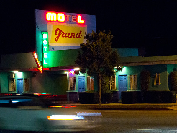 Motel Grand Los Angeles, CA, USA January 2012