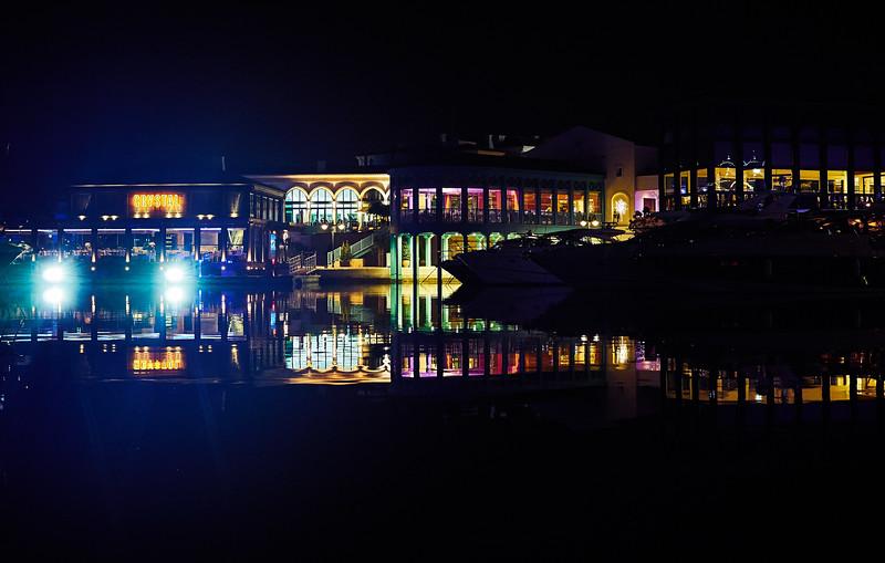 Limassol Marina at night