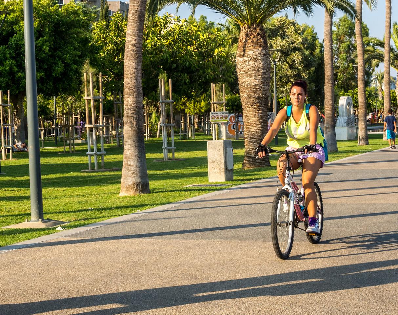 Cyclist in Limassol