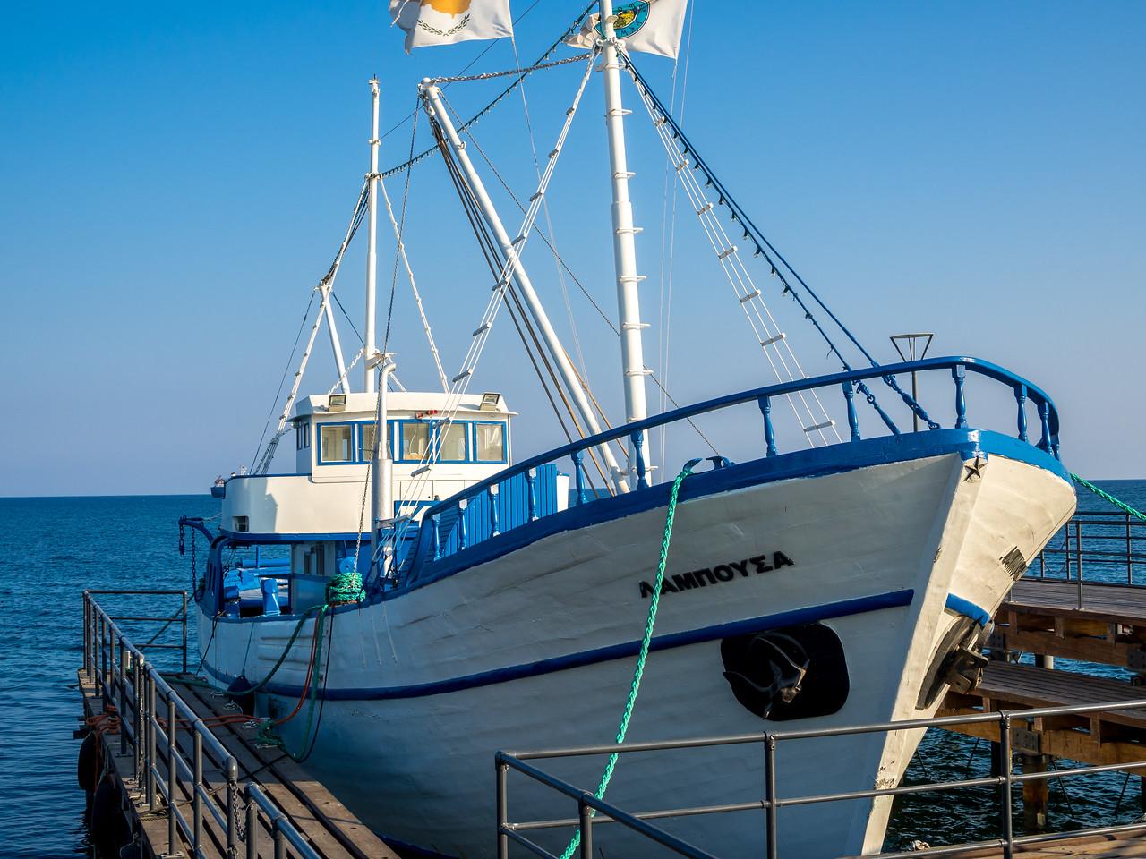 A ship in Limassol