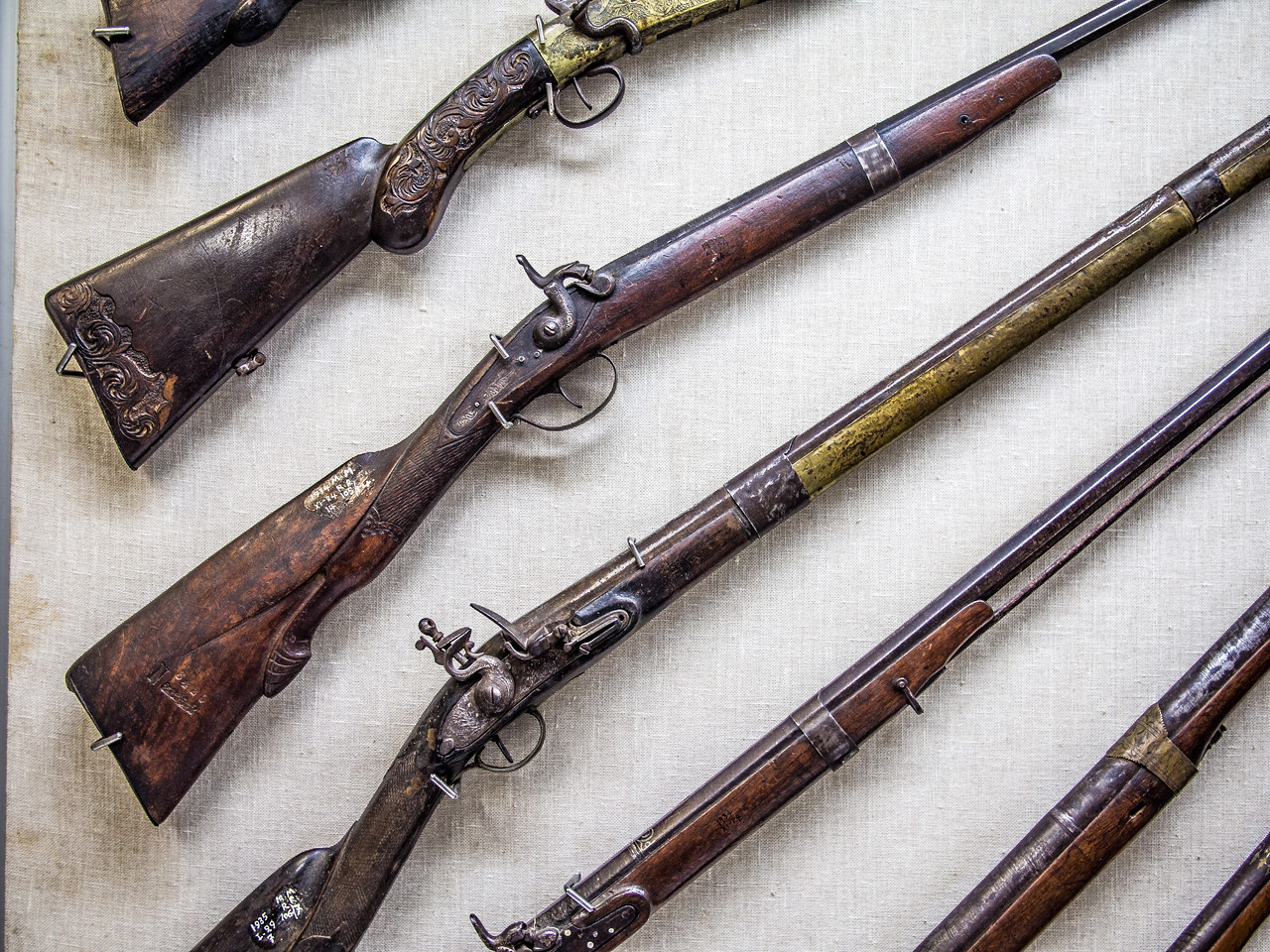 Rifles in a museum (Limassol, Cyprus)