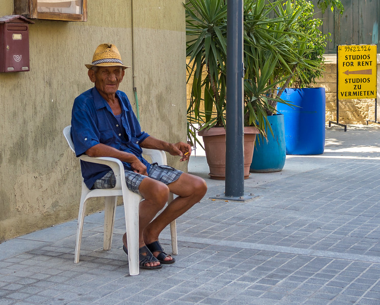 Old man in Limassol