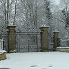 The old majestic gates to a mannor house knocked down long ago at Grange De Lings left to rust.