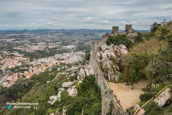 The Moorish Castle in Sintra (25km west of Lisbon)
