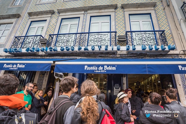 The Famous Pastry Shop in the Belém District of Lisbon