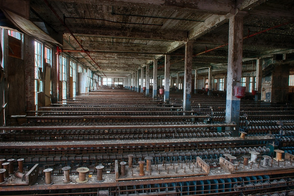 Rows and rows of machinery.