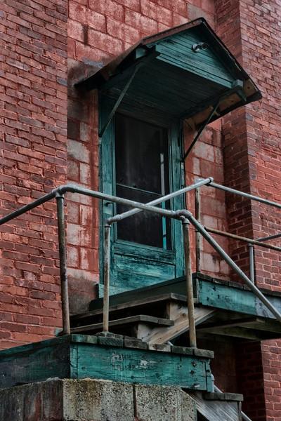 Door to second floor office.