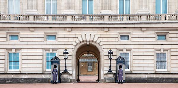Guards at Buckingham.