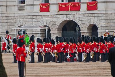 Her Majesty, Queen Elizabeth II, descending from the podeum.