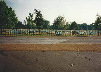 City-provided seating in Hyde Park