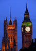 Big Ben and House of Parliment illuminated at sunset - London, England