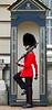 British Royal Guard high-stepping at guard box - Buckingham Palace - London, England