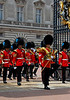 Royal Marching Band exiting the gates of Buckingham Palace - <br /> Changing of the Guards - London, England