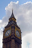 Big Ben against white clouds - London, England