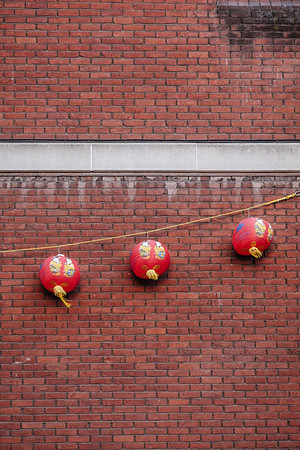 Red lanterns in London chinatown