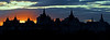 Silhouette of London Skyline at sunset along River Thames 2 - <br /> London, England   (Letterbox or Banner)