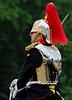 British Royal Guard in shining breast plate - <br /> Horse Guards Parade - London, England