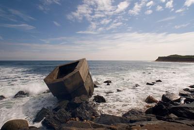 Fallen redoubt at Montauk Point