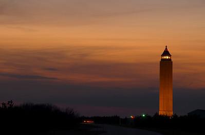 Robert Moses Park tower, sunset