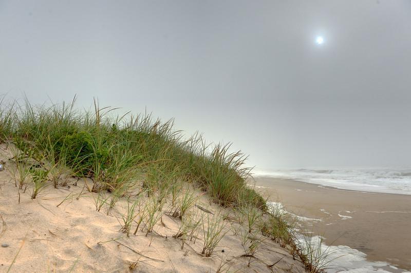Last glimpse of the Montauk sun as Hurricane Irene approaches, Aug 27 2011.