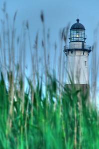 Montauk Lighthouse at dusk
