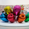 Broad Museum: Jeff Koons, 1995-2004, Tulips, mirror-polished stainless steel with transparent color coating