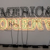 Broad Museum: Glenn Ligon, 2014, Double America 2, Neon and paint