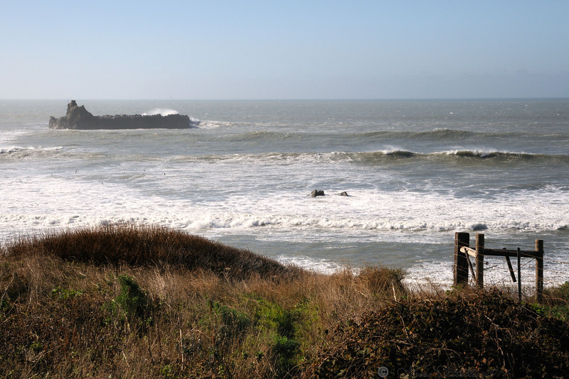 Cape Mendocino located on the Lost Coast, the most western point in the continental United States.