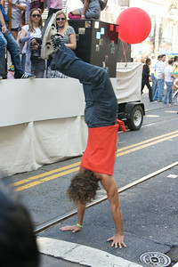 Parading upside down