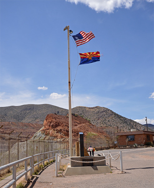 """At the """"scenic view"""" pull-off at the Lavender Pit, between Bisbee and Lowell."""